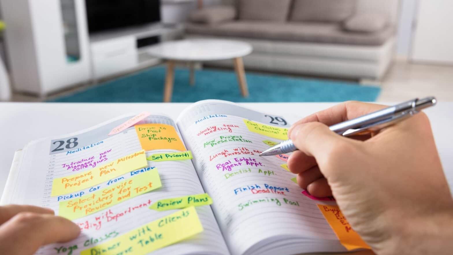 Lernmethoden für das Studium, Tagesablauf